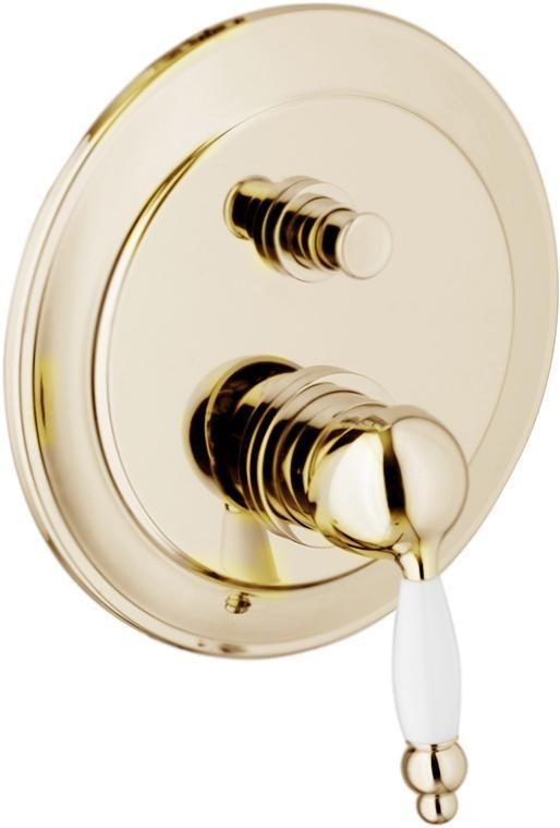 картинка Смеситель для ванны Webert Dorian DO860101 Золото/белый