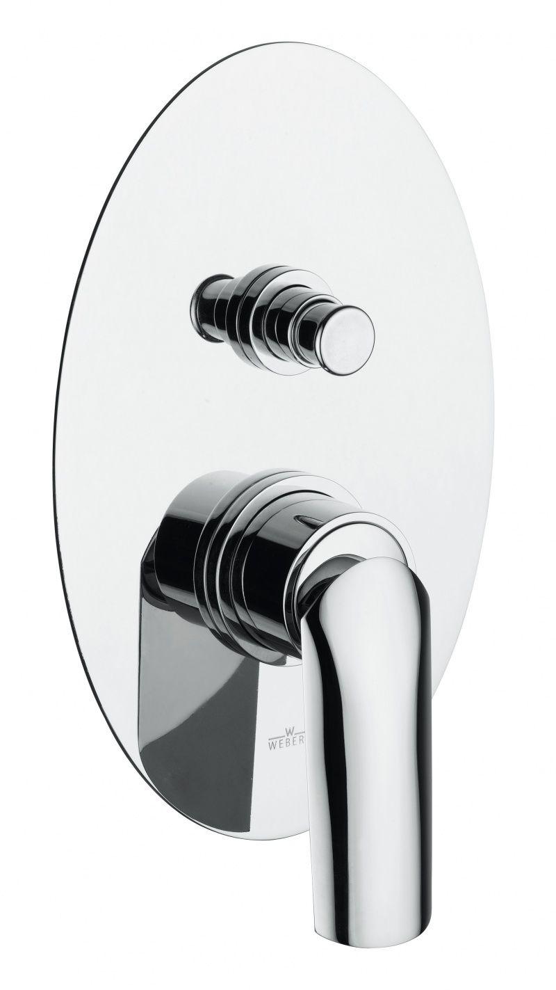 картинка Смеситель для ванны Webert Aria AI860101 Белый глянцевый с ручкой Arenaria