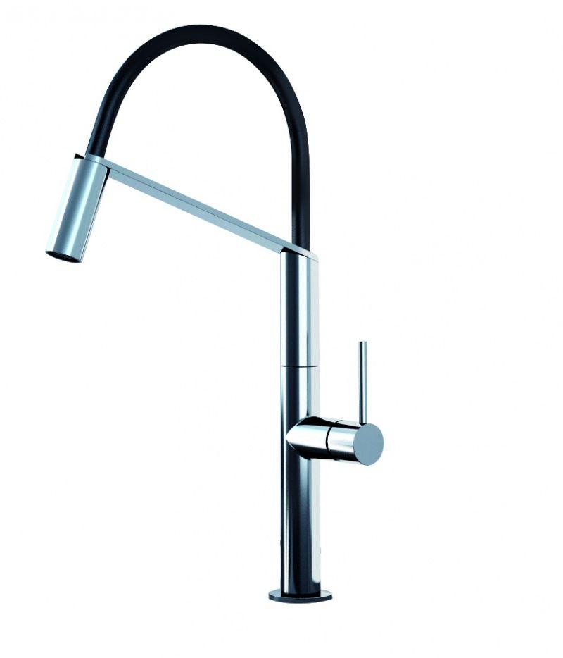 картинка Смеситель для кухни Webert Kitchen Oblique Pro ОВ920602 Хром/черный