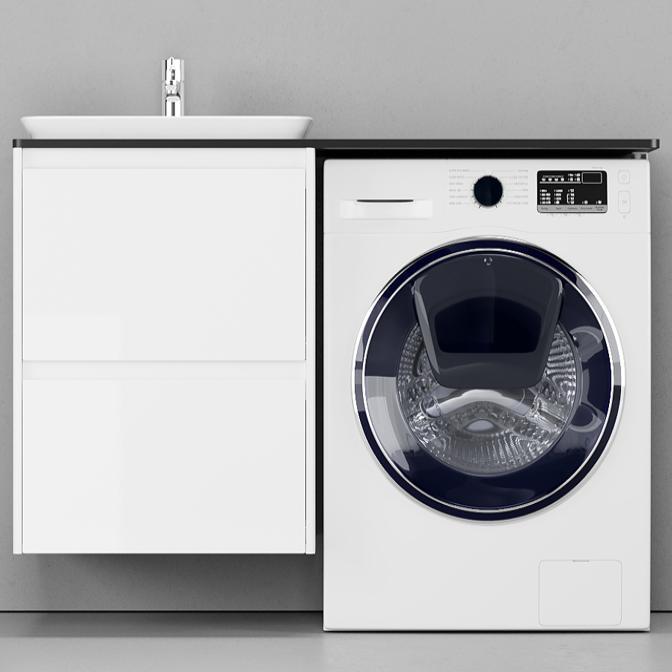 Фото Мебель VELVEX Klaufs 120 над стиральной машиной, черная(без раковины)