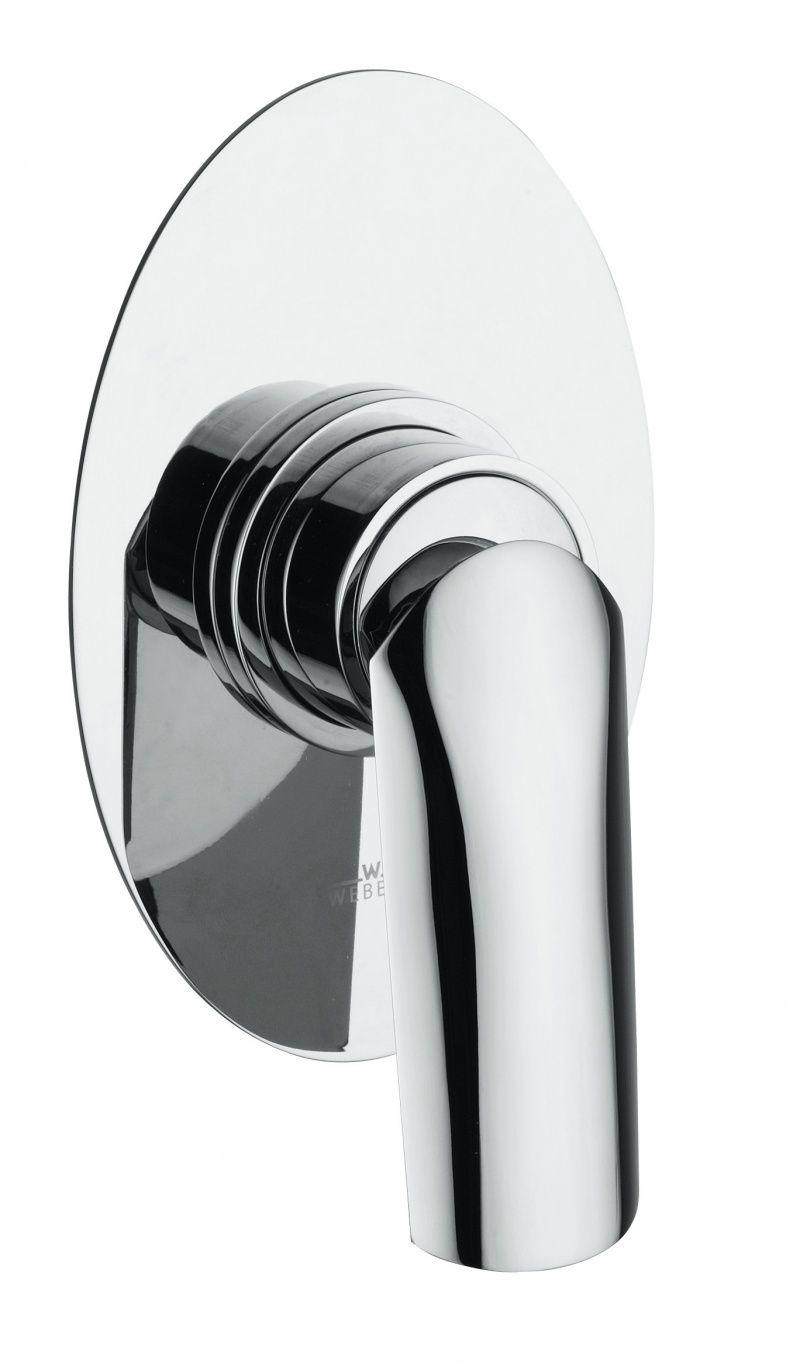 картинка Смеситель для душа Webert Aria AI880101 Белый глянцевый с ручкой Basalto